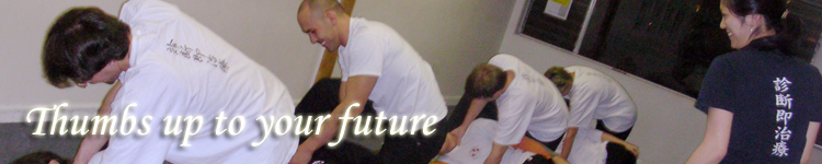 Thumb up to your future! Canadian College of Shiatsu Therapy